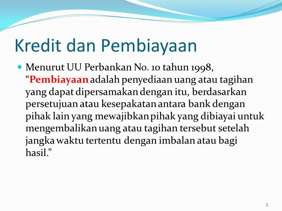 Kredit dan Pembiayaan Menurut UU Perbankan No.