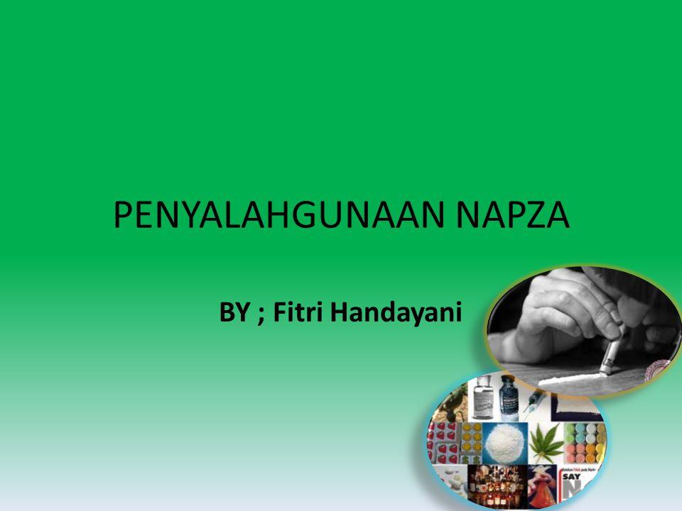 PENYALAHGUNAAN NAPZA BY ; Fitri Handayani