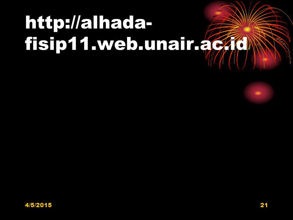 http://alhada- fisip11.web.unair.ac.id 4/5/201521