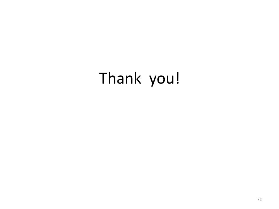Thank you! 70