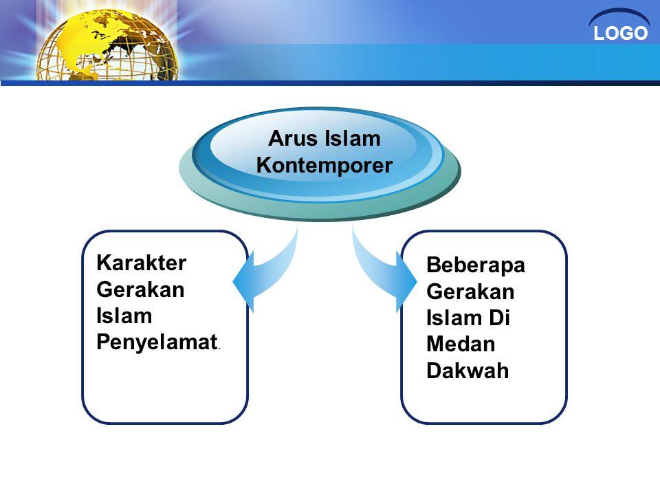 LOGO Karakter Gerakan Islam Penyelamat. Arus Islam Kontemporer Beberapa Gerakan Islam Di Medan Dakwah