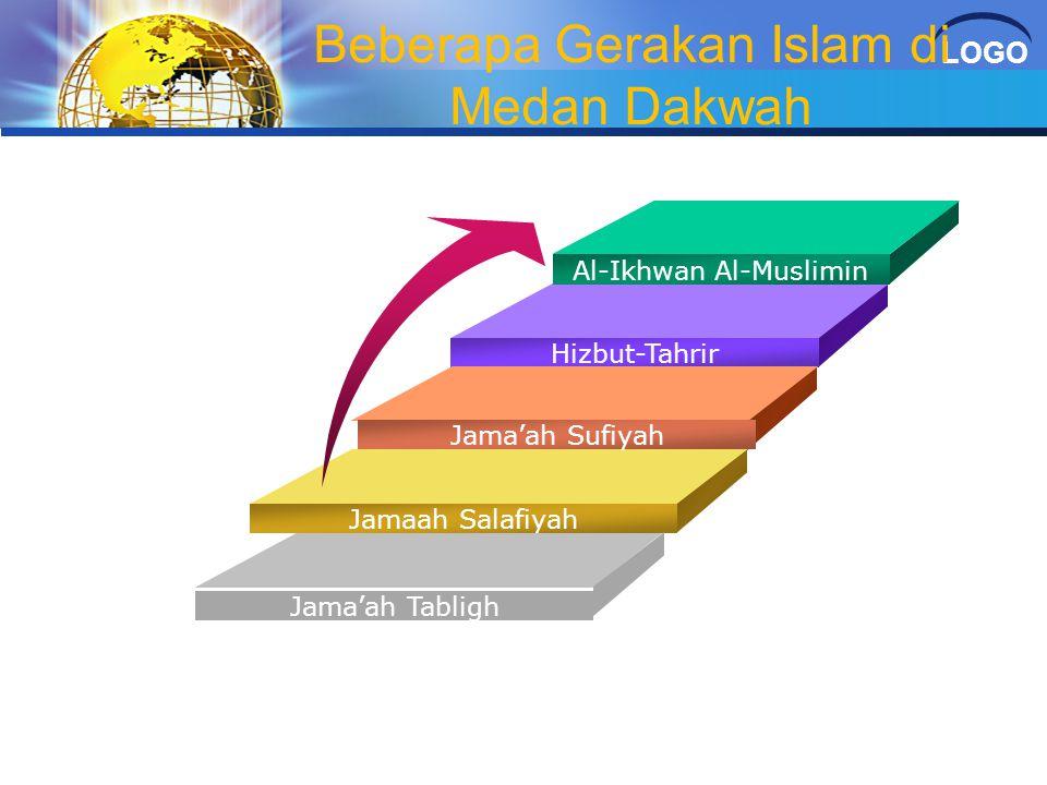 LOGO Beberapa Gerakan Islam di Medan Dakwah Al-Ikhwan Al-Muslimin Hizbut-Tahrir Jama'ah Sufiyah Jamaah Salafiyah Jama'ah Tabligh