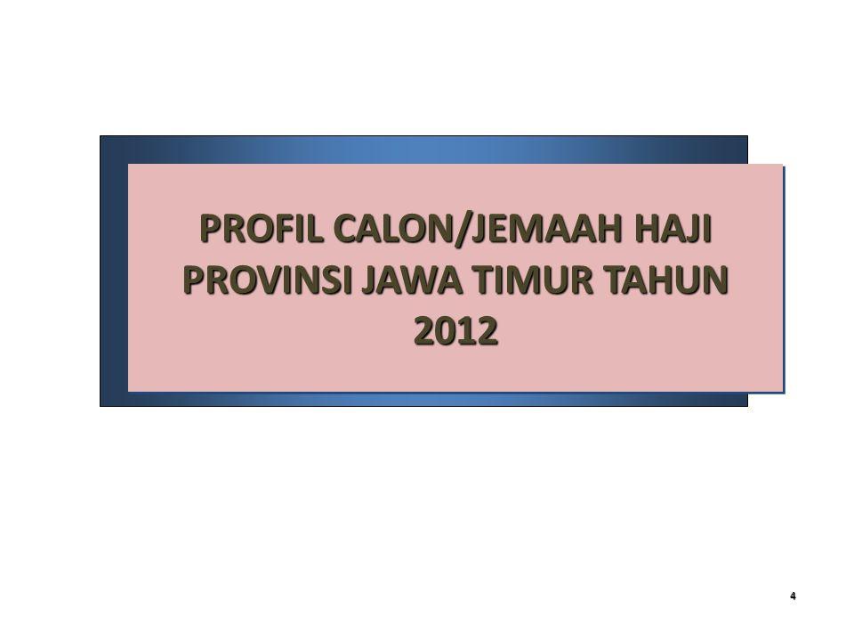 4 PROFIL CALON/JEMAAH HAJI PROVINSI JAWA TIMUR TAHUN 2012