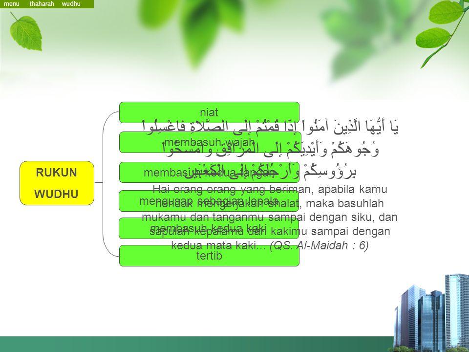 2 Wudhu menu rukunkeharusan sunnah membatalkan thaharah