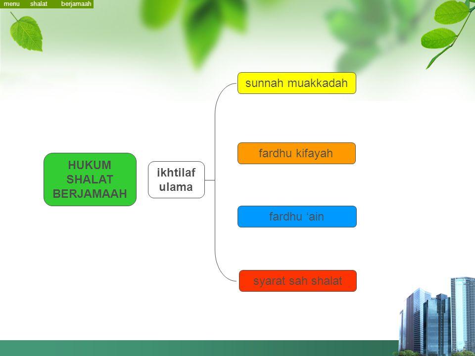 Shalat Berjamaah menu hukum makmum ketentuan shaf rakaat shalat imam