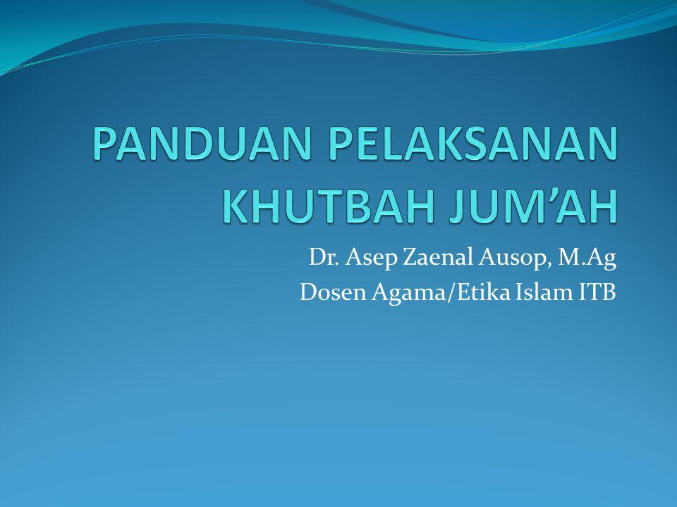 Dr. Asep Zaenal Ausop, M.Ag Dosen Agama/Etika Islam ITB