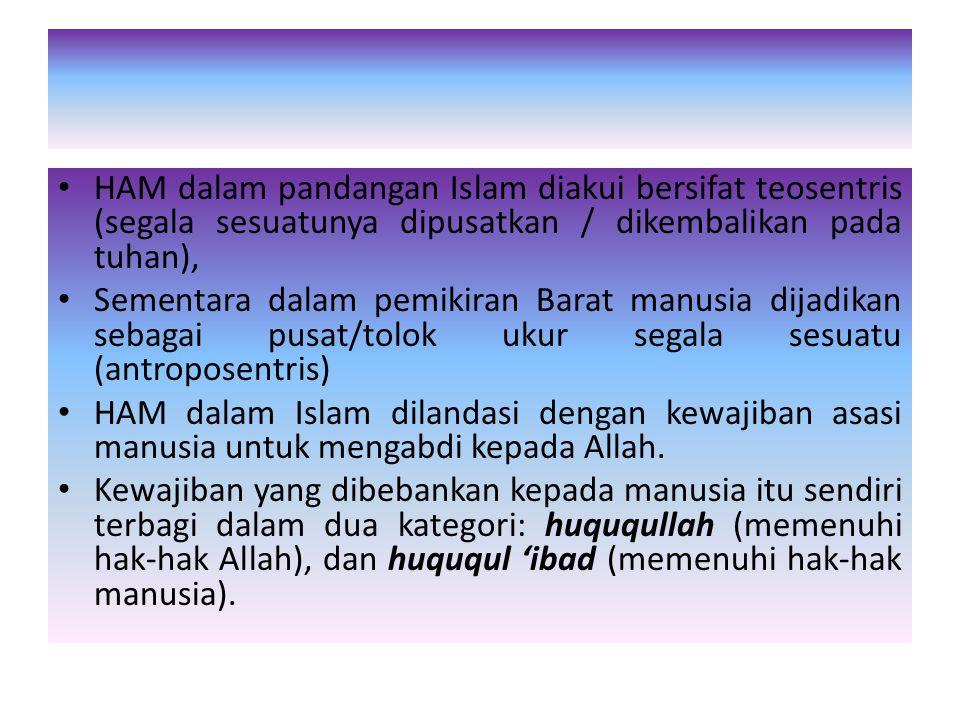 Menurut Tahir Azhary, ada 3 sifat dari hukum Islam yaitu : – Bidimensional : Mengandung segi kemanusiaan dan ketuhanan. Tidak hanya mengatur satu aspe