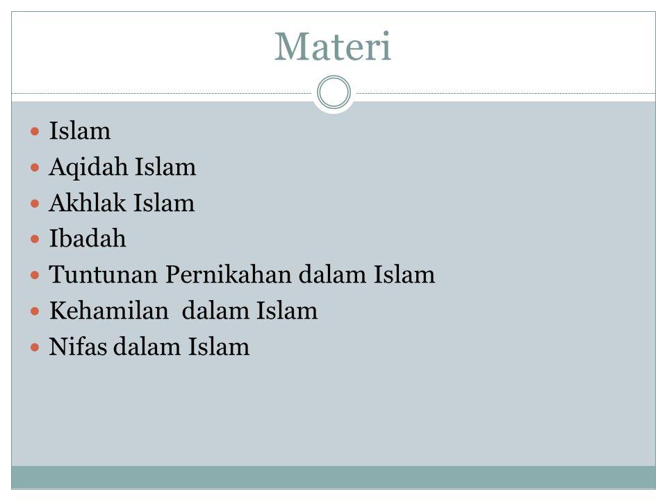Materi Islam Aqidah Islam Akhlak Islam Ibadah Tuntunan Pernikahan dalam Islam Kehamilan dalam Islam Nifas dalam Islam