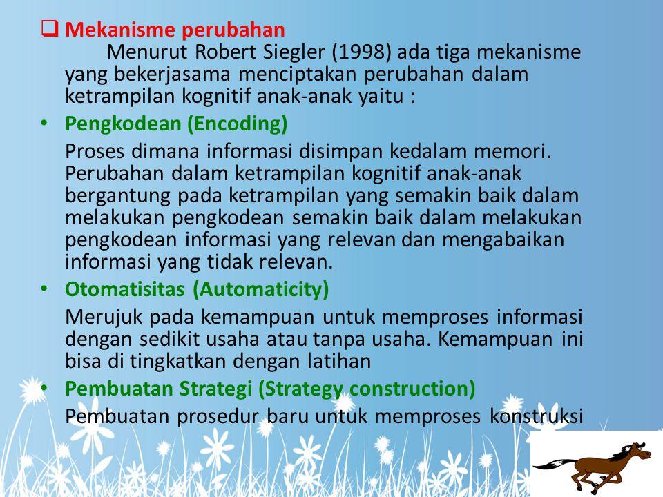  Organisasi dan Kedalaman Pengetahuan Pengetahuan para ahli diatur di seputar ide atau konsep penting lebih baik bila dibandingkan dengan pengetahuan para pemula ( National Research Council, 1999).