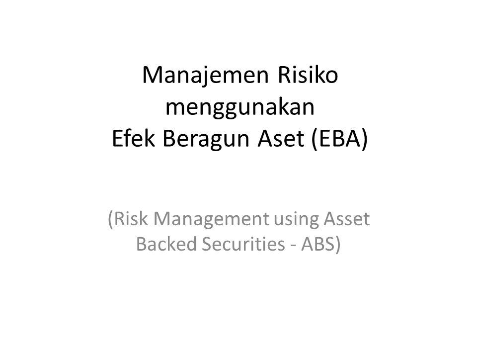 Manajemen Risiko menggunakan Efek Beragun Aset (EBA) (Risk Management using Asset Backed Securities - ABS)