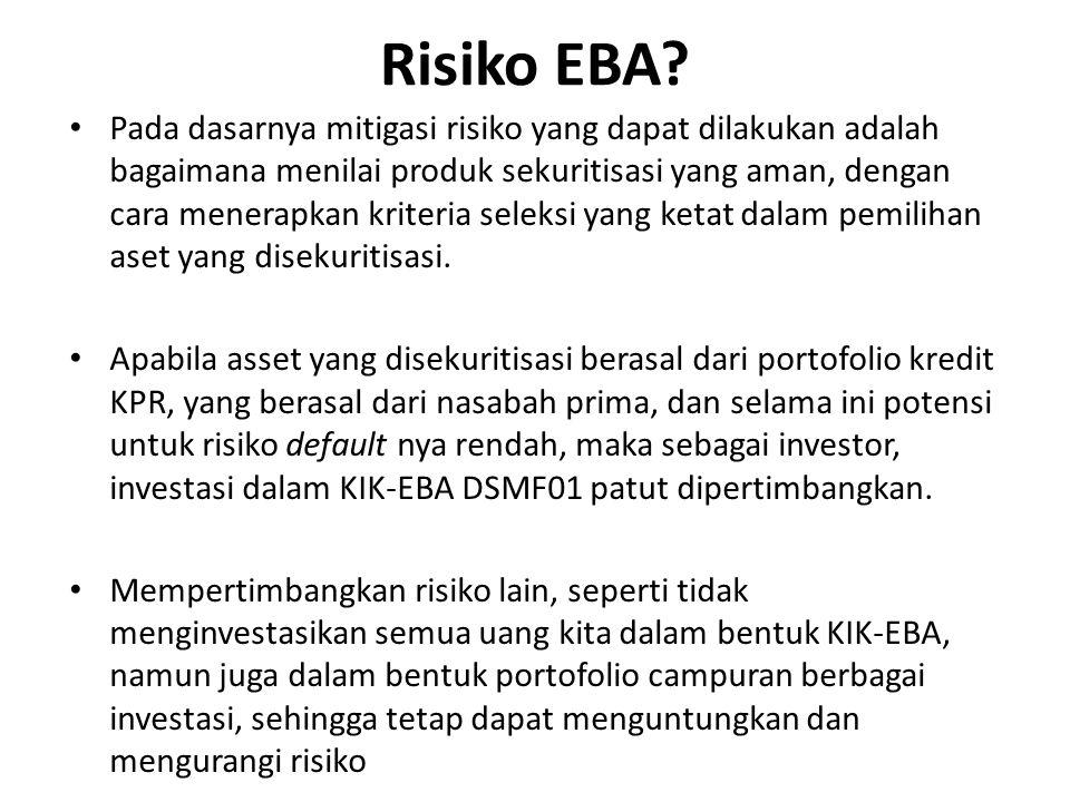 Pada dasarnya mitigasi risiko yang dapat dilakukan adalah bagaimana menilai produk sekuritisasi yang aman, dengan cara menerapkan kriteria seleksi yang ketat dalam pemilihan aset yang disekuritisasi.