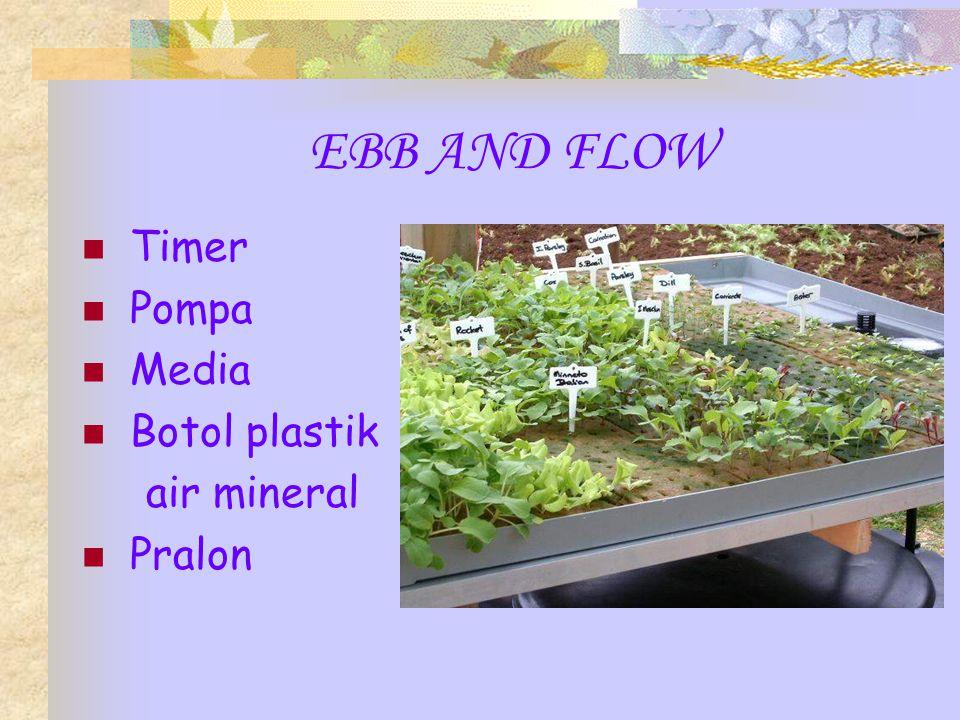 EBB AND FLOW Timer Pompa Media Botol plastik air mineral Pralon