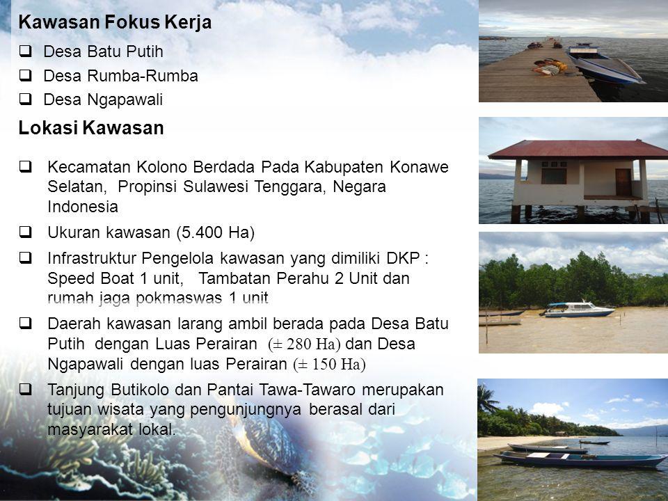 Kawasan Fokus Kerja  Desa Batu Putih  Desa Rumba-Rumba  Desa Ngapawali Lokasi Kawasan  Kecamatan Kolono Berdada Pada Kabupaten Konawe Selatan, Pro
