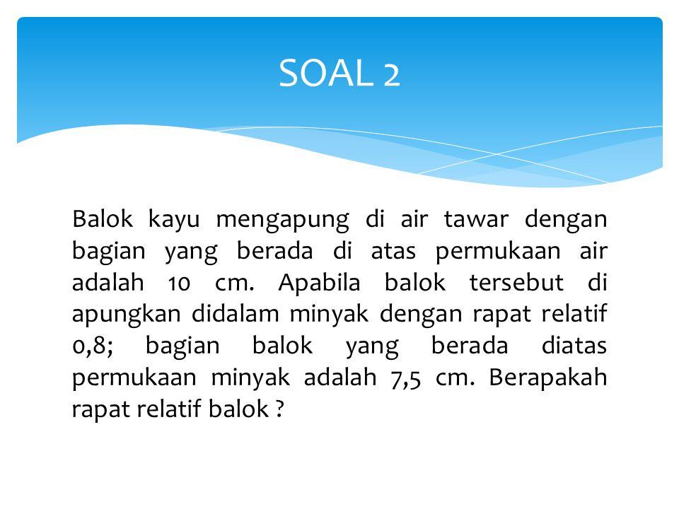 PENYELESAIAN SOAL 2 7,5 cm S=0,8S=1 10 cm