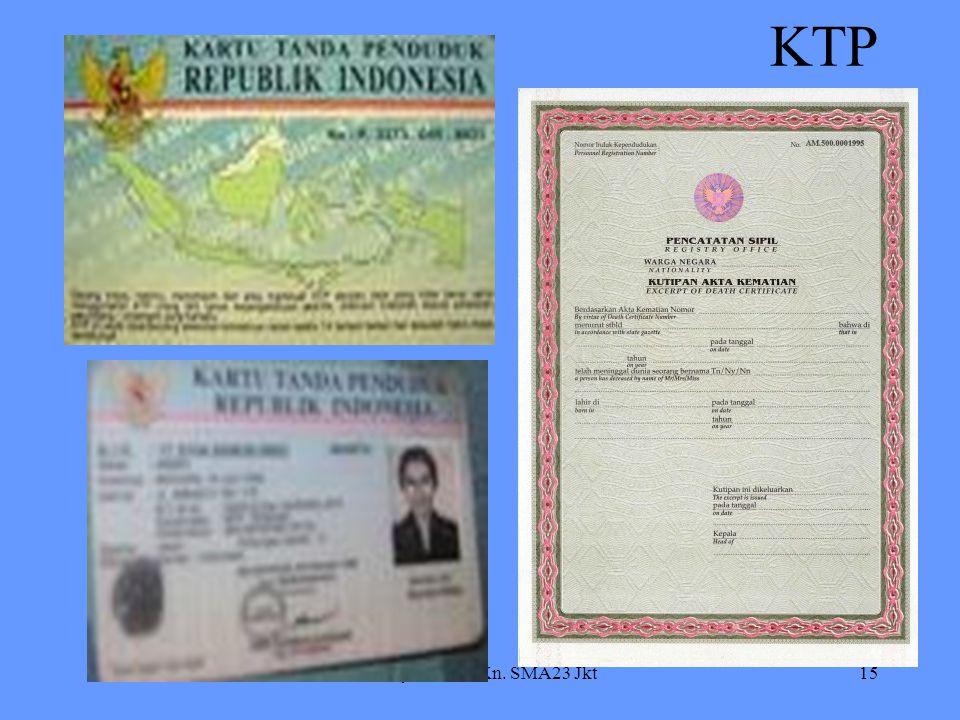 Dr. Syahrial / PKn. SMA23 Jkt15 KTP