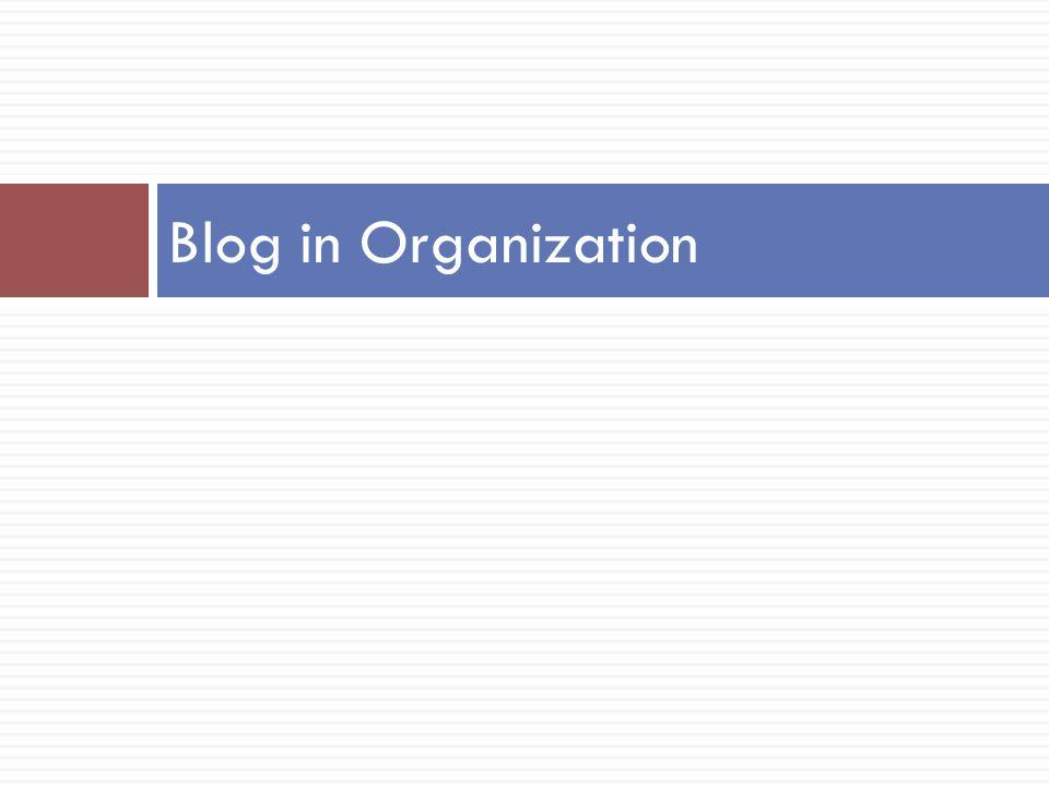 Blog in Organization