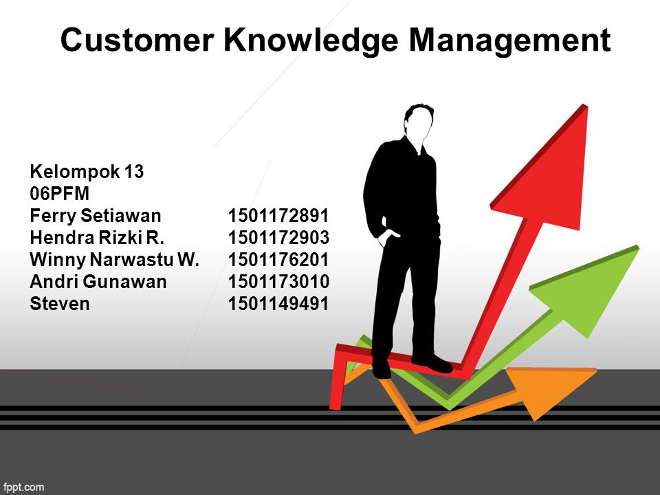 Customer Knowledge Management Kelompok 13 06PFM Ferry Setiawan1501172891 Hendra Rizki R.1501172903 Winny Narwastu W.1501176201 Andri Gunawan1501173010