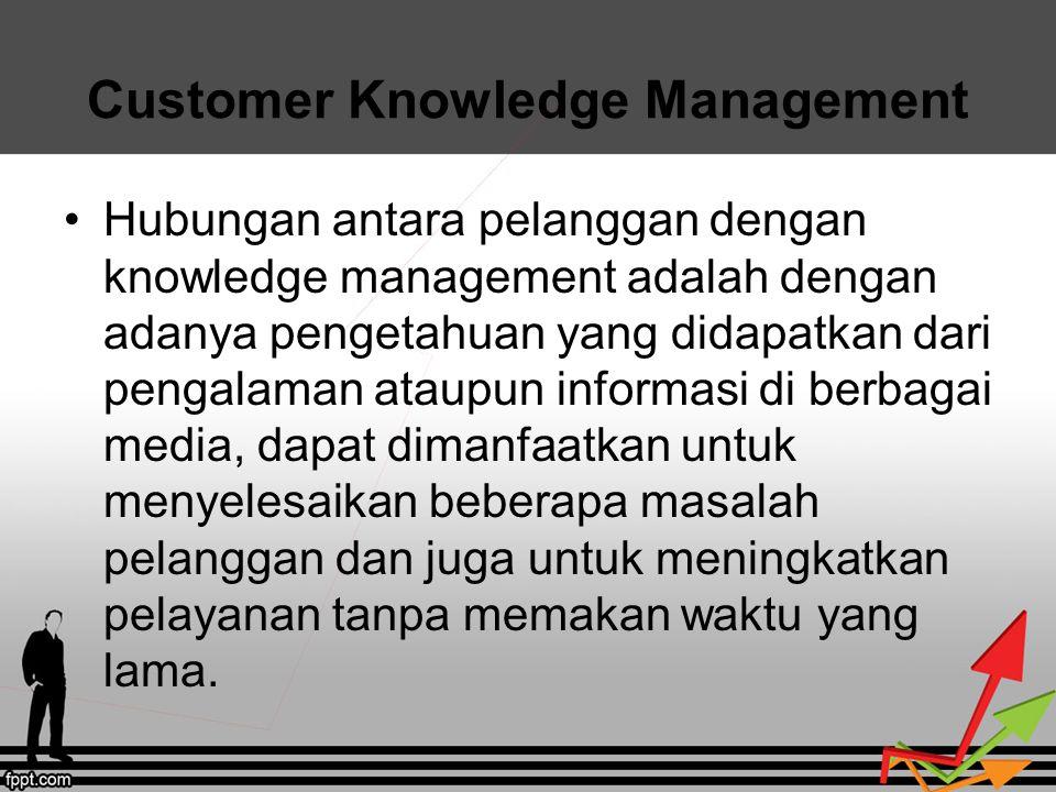 Manfaat Customer Knowledge Management Bagi perusahaan Bagi pelanggan