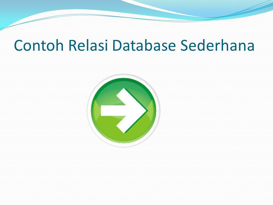 Contoh Relasi Database Sederhana