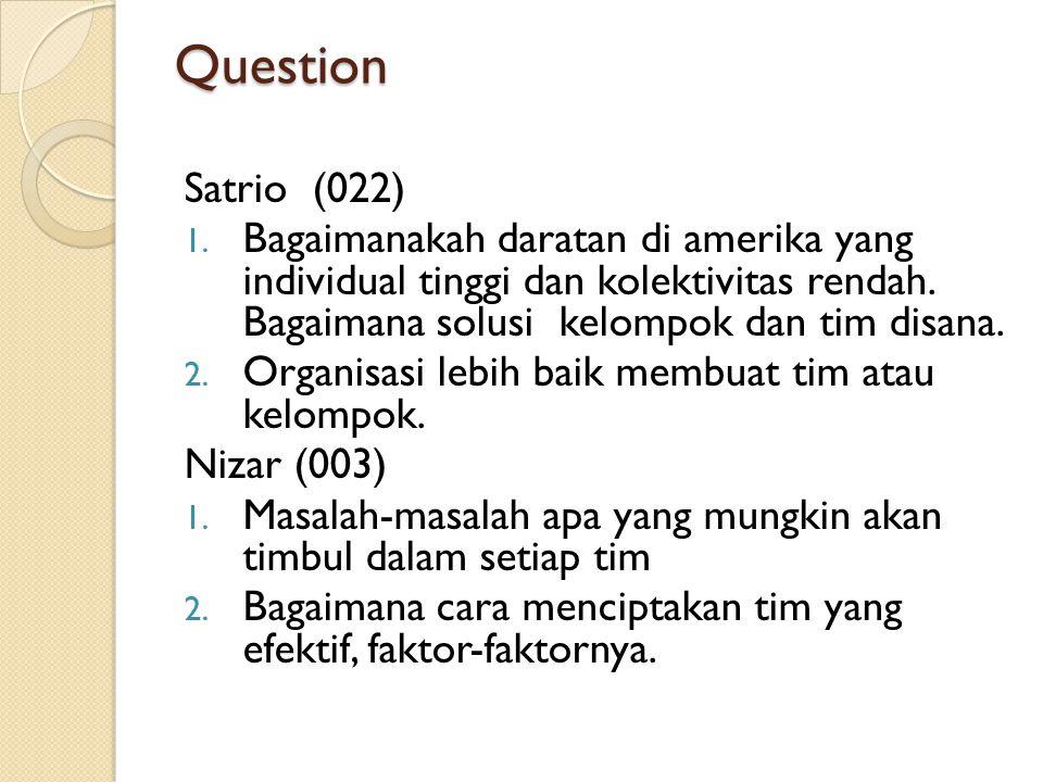 Question Satrio (022) 1.