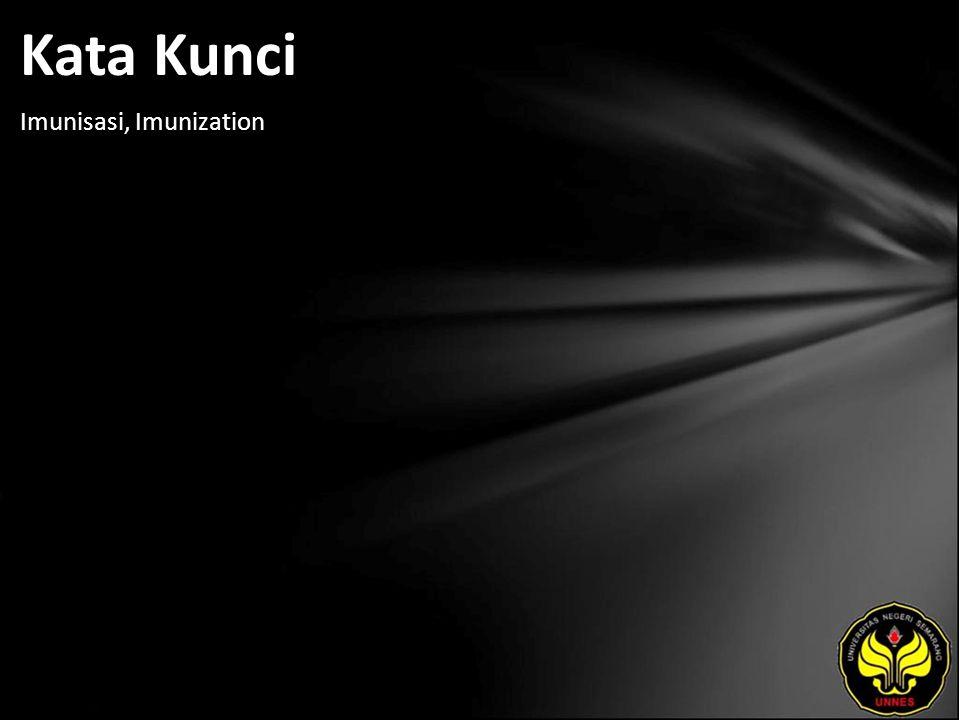Kata Kunci Imunisasi, Imunization