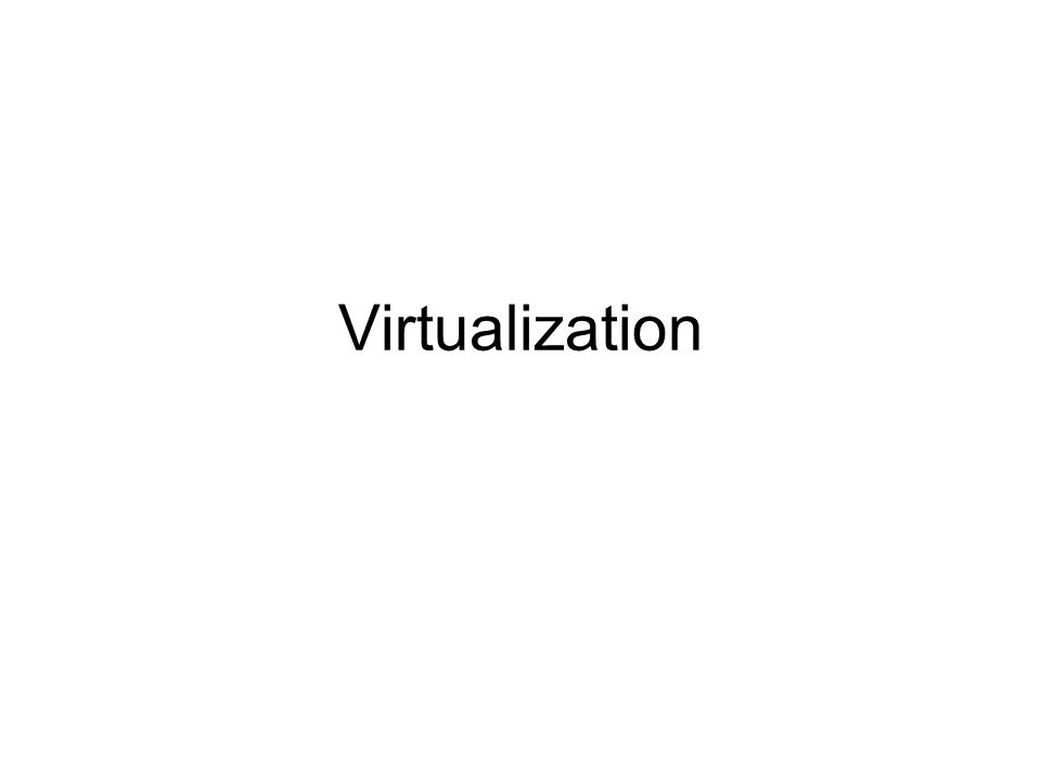 Virtualization Examples Server consolidation - Virtual machines are used to consolidate many physical servers into fewer servers, which in turn host virtual machines.