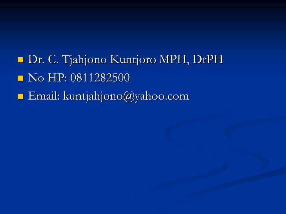 Dr.C. Tjahjono Kuntjoro MPH, DrPH Dr. C.