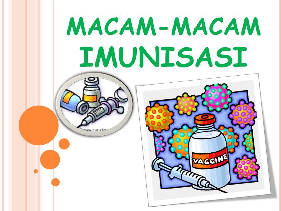 VAKSIN BCG Imunisasi BCG bertujuan untuk memberikan kekebalan aktif kepada bayi dan balita terhadap penyakit TBC paru-paru