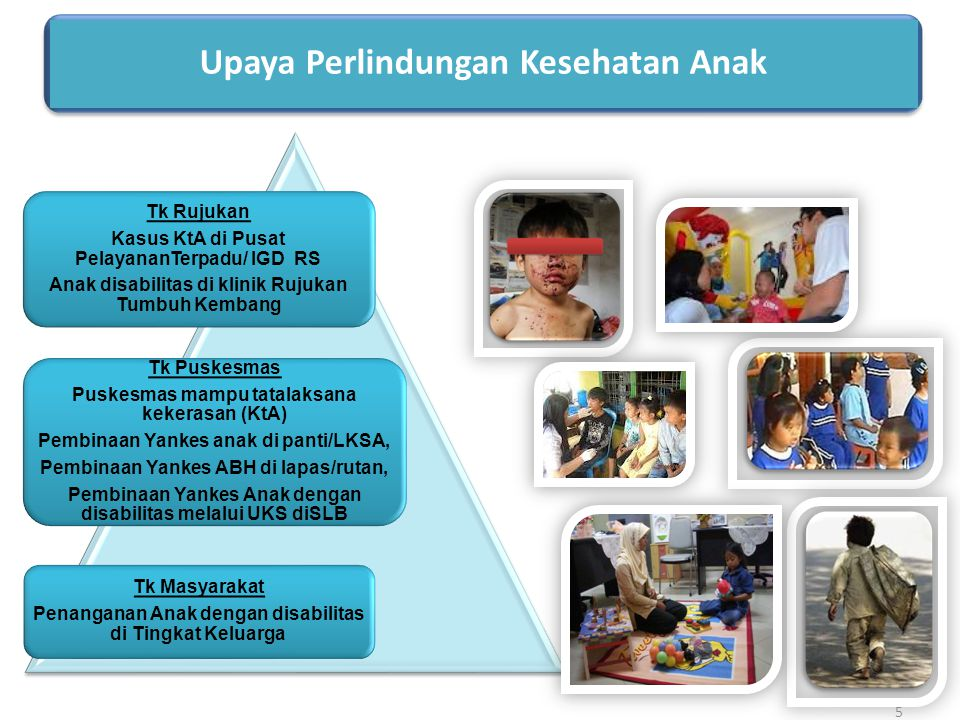Upaya Perlindungan Kesehatan Anak Tk Rujukan Kasus KtA di Pusat PelayananTerpadu/ IGD RS Anak disabilitas di klinik Rujukan Tumbuh Kembang Tk Puskesma