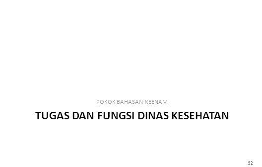 TUGAS DAN FUNGSI DINAS KESEHATAN POKOK BAHASAN KEENAM 52