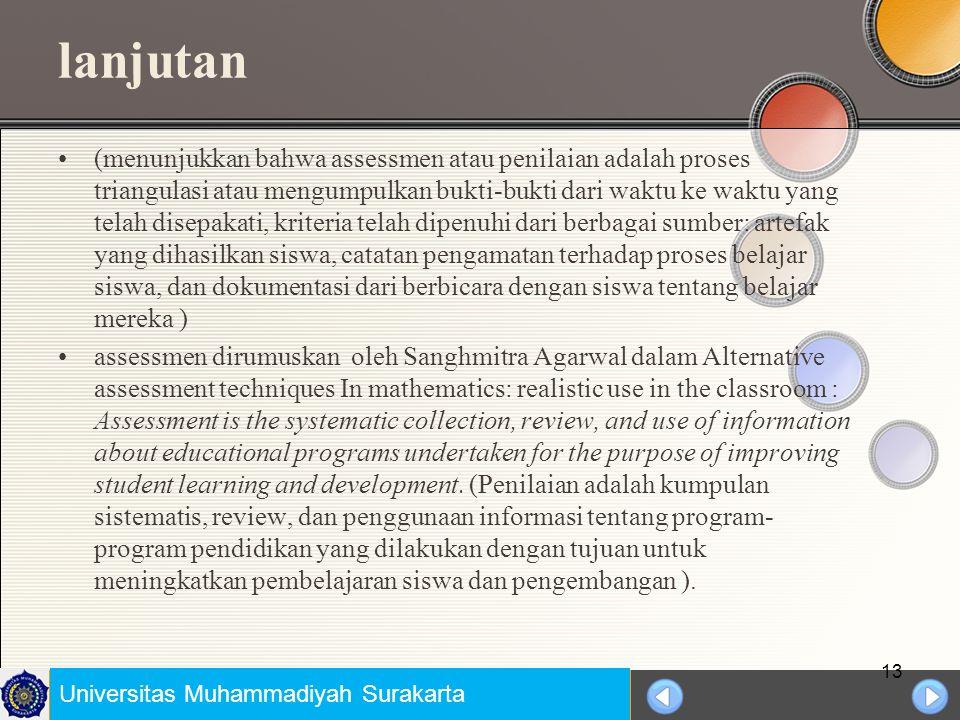 Universitas Negeri Jakarta Lanjutan… Alternatif Assessment Menurut Peraturan Pemerintah No.