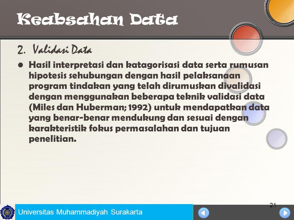 Universitas Negeri Jakarta Keabsahan Data 1.