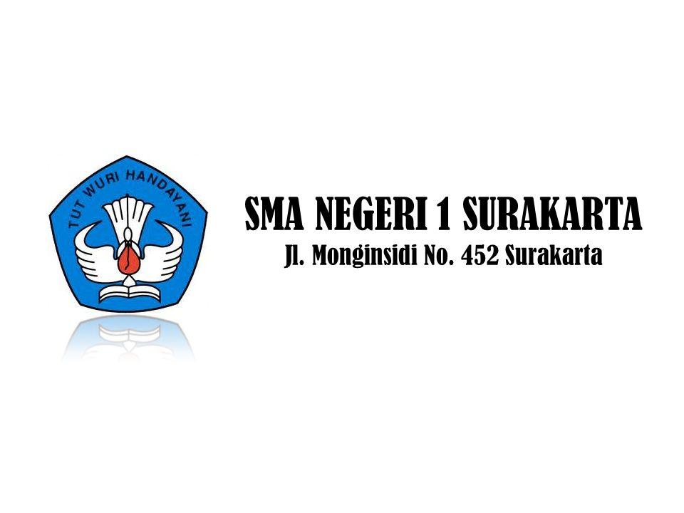 SMA NEGERI 1 SURAKARTA Jl. Monginsidi No. 452 Surakarta