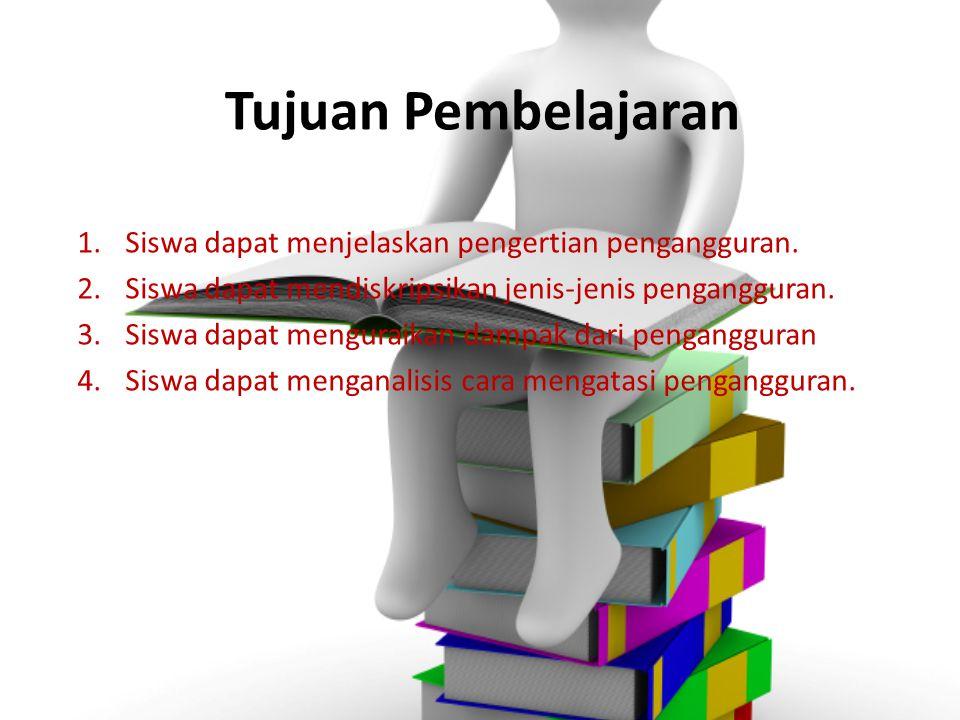 Tujuan Pembelajaran 1.Siswa dapat menjelaskan pengertian pengangguran.