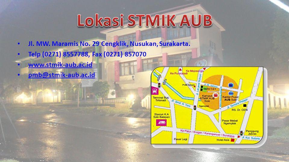 Jl. MW. Maramis No. 29 Cengklik, Nusukan, Surakarta.