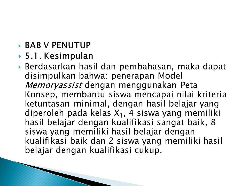  BAB V PENUTUP  5.1.