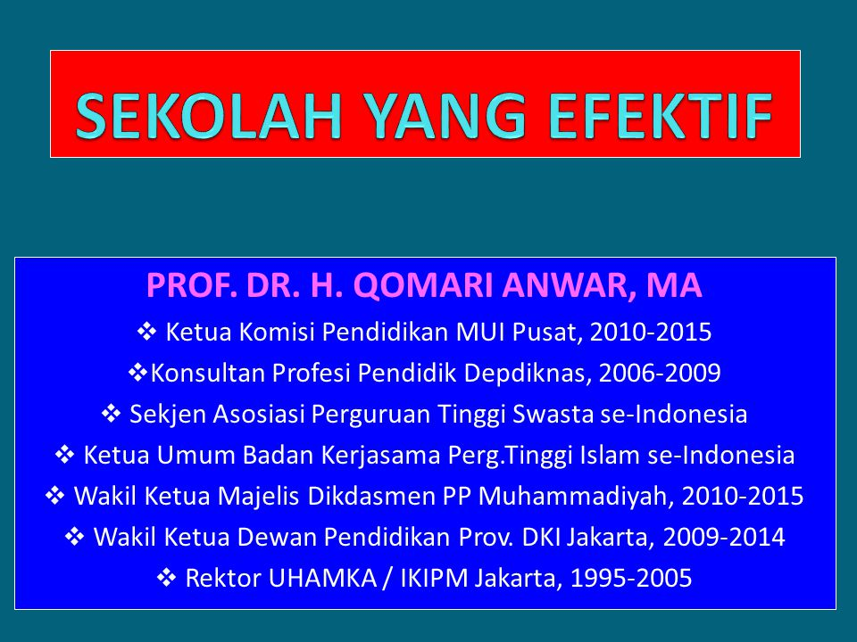 QOMARI ANWAR PROF.DR. H.