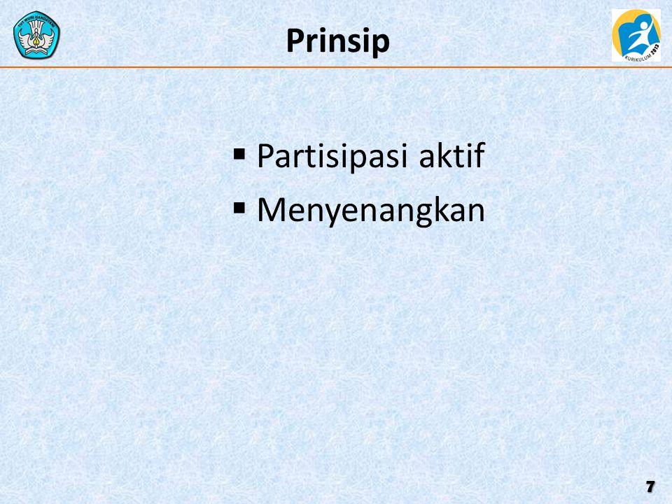 Prinsip  Partisipasi aktif  Menyenangkan 7