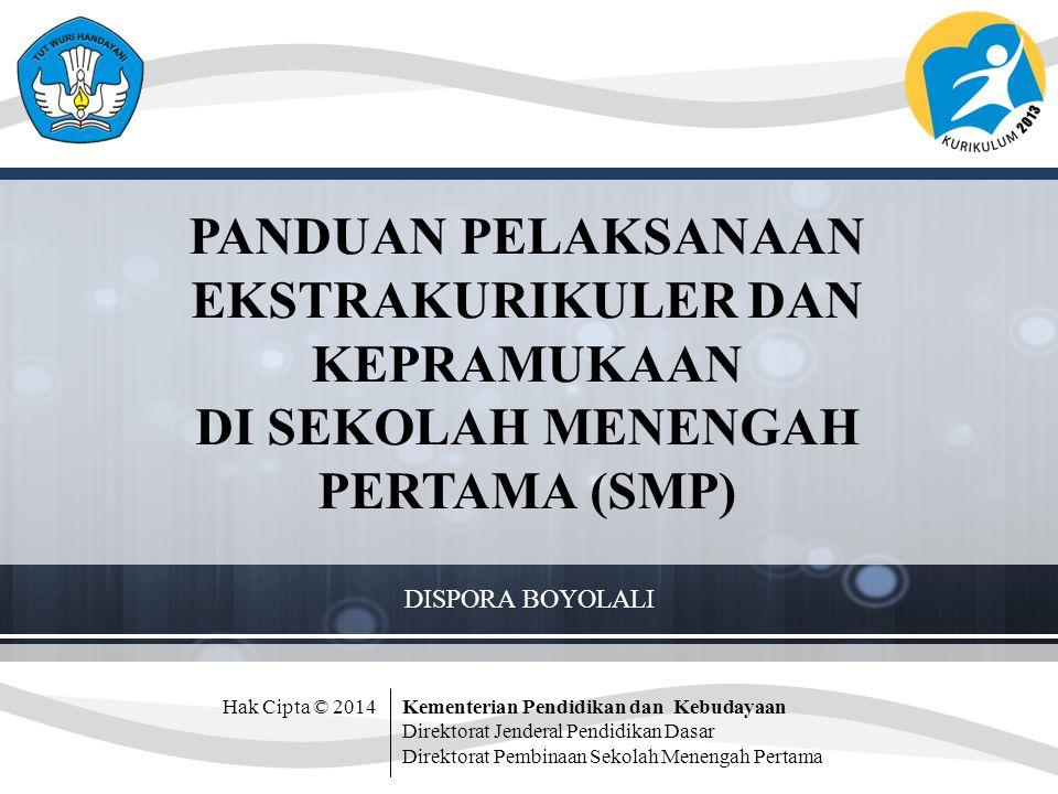 Pola Kegiatan Pendidikan Kepramukaan A.Upacara pembukaan dan penutupan : Pasukan Penggalang B.