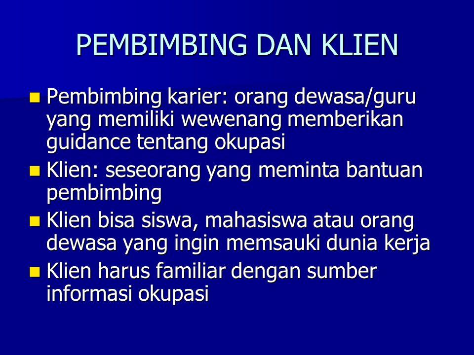 PEMBIMBING KARIER PERLU MENGUASAI 1.