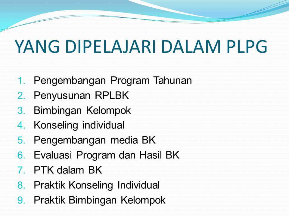 YANG DIPELAJARI DALAM PLPG 1.Pengembangan Program Tahunan 2.