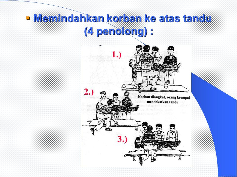 4. Tandu dng kain sarung/karung :