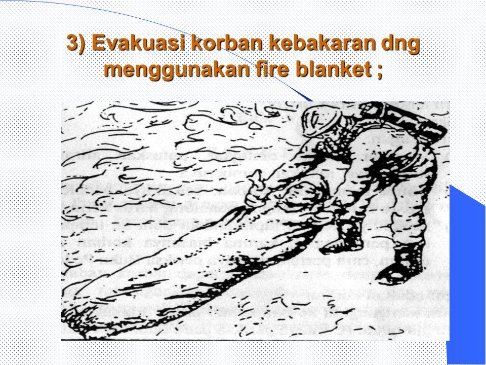 2). Evakuasi korban tidak sadar di areal kebakaran ;