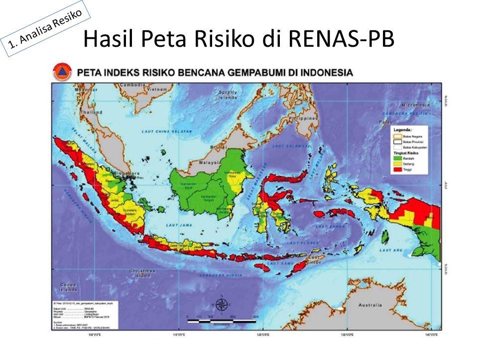 Hasil Peta Risiko di RENAS-PB 1. Analisa Resiko