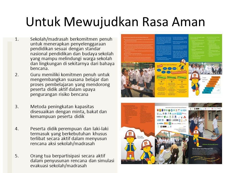 Untuk Mewujudkan Rasa Aman 1.Sekolah/madrasah berkomitmen penuh untuk menerapkan penyelenggaraan pendidikan sesuai dengan standar nasional pendidikan