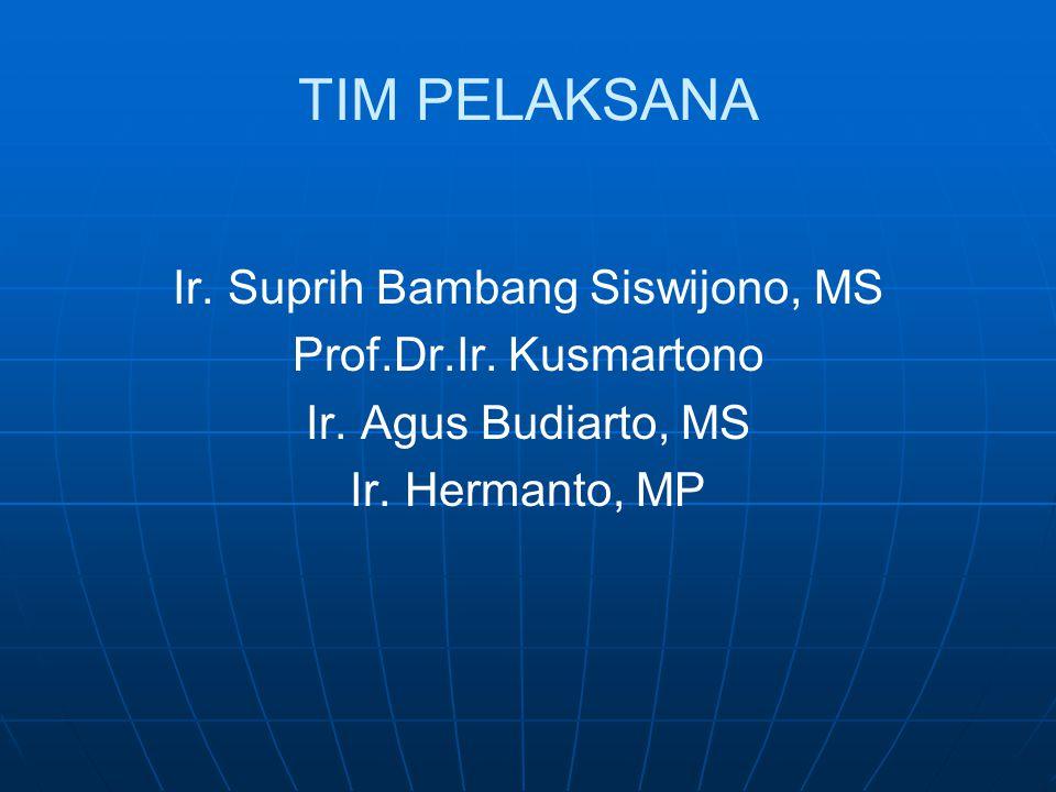TIM PELAKSANA Ir.Suprih Bambang Siswijono, MS Prof.Dr.Ir.