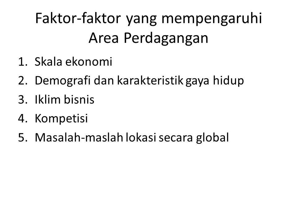 Faktor-faktor yang mempengaruhi daya tarik sebuah Lokasi Aksesibilitas 1.