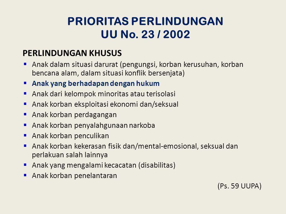 8 APA TUJUAN PERLINDUNGAN ANAK ? 1. Terpenuhinya hak-hak anak agar dapat hidup, tumbuh, berkembang, dan berpartisipasi secara optimal sesuai dengan ha