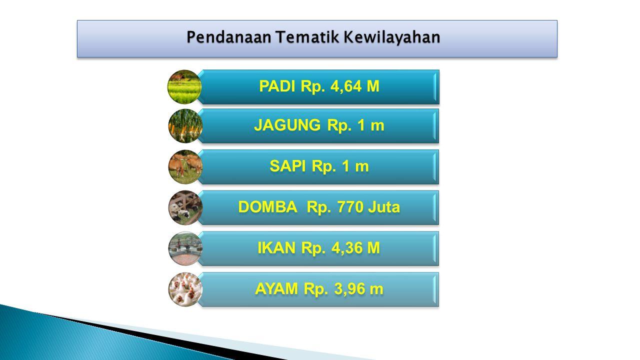 PADI Rp.4,64 M JAGUNG Rp. 1 m SAPI Rp. 1 m DOMBA Rp.