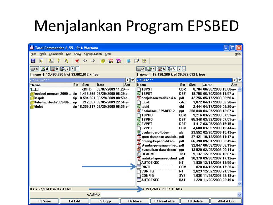 Menjalankan Program EPSBED